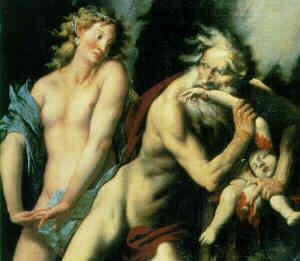 Cronos y los titanes griegos